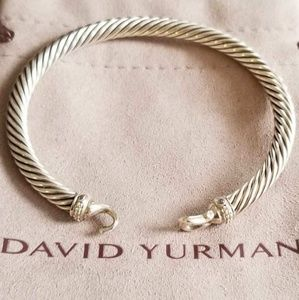 DY Sterling Silver  Cable 5 mm Buckle Bracelet